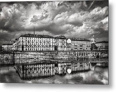 Turin Shrouded In Cloud Metal Print