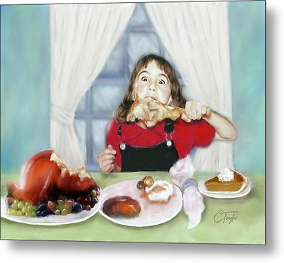 Turkey Girl Metal Print by Colleen Taylor