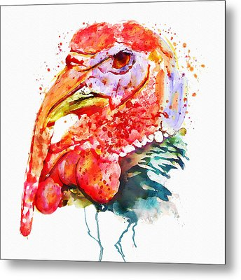 Turkey Head Metal Print by Marian Voicu