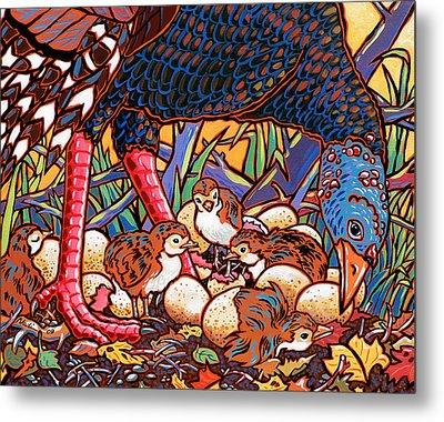 Turkeys Metal Print by Nadi Spencer