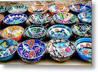 Turkish Bowls Metal Print