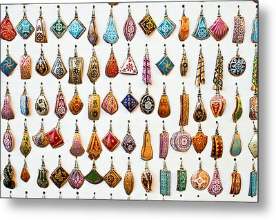 Turkish Earrings Metal Print by Tom Gowanlock