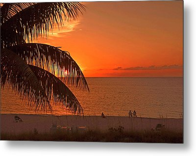 Turks And Caicos Sunset Metal Print by Stephen Anderson