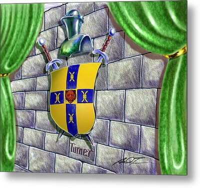 Turner Family Crest Metal Print