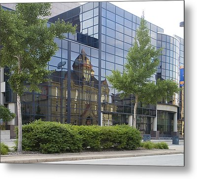 Metal Print featuring the photograph Turner Hall Reflection by Peter Skiba
