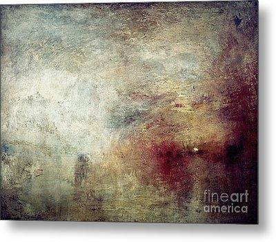 Turner: Sun Setting, C1840 Metal Print by Granger
