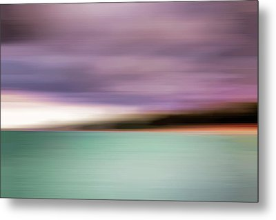 Turquoise Waters Blurred Abstract Metal Print by Adam Romanowicz