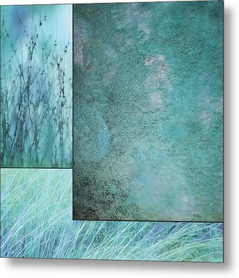 Turquoise Textures Metal Print