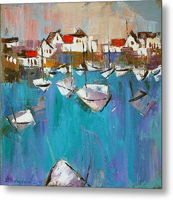 Metal Print featuring the painting Turquoise by Anastasija Kraineva
