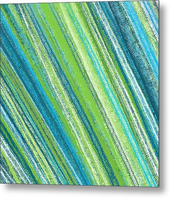 Turquoise And Green Art Metal Print