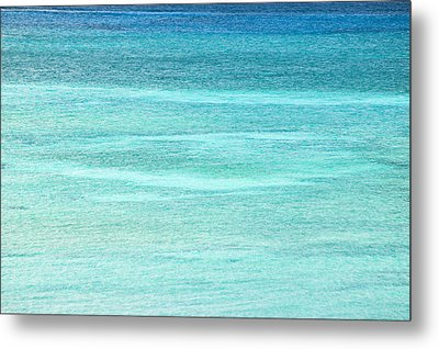 Turquoise Blue Carribean Water Metal Print by James Forte