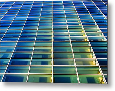 Turquoise Building Metal Print by Todd Klassy
