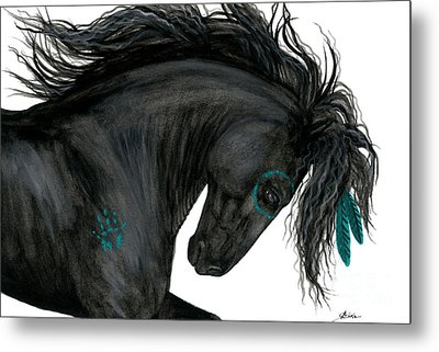 Turquoise Dreamer Horse Metal Print by AmyLyn Bihrle