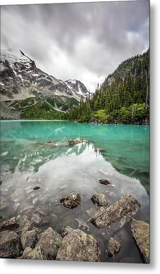 Metal Print featuring the photograph Turquoise Lake In The Mountains by Pierre Leclerc Photography