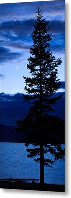 Turquoise Lake Twilight Metal Print