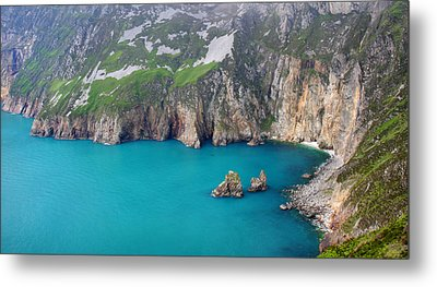turquoise sea at Slieve League cliffs Ireland Metal Print by Pierre Leclerc Photography