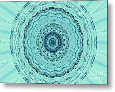 Turquoise Serenade Metal Print by Sheila Ping