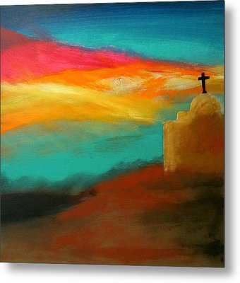 Turquoise Trail Sunset Metal Print