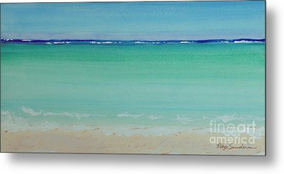 Turquoise Waters Long Abstract Metal Print