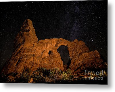 Metal Print featuring the photograph Turret Arch And The Milky Way - Utah by Gary Whitton