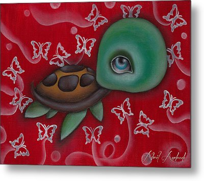 Turtle Metal Print by  Abril Andrade Griffith