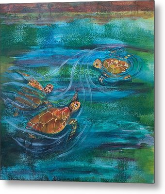Turtle Ballet Metal Print by Bonnie Rabert