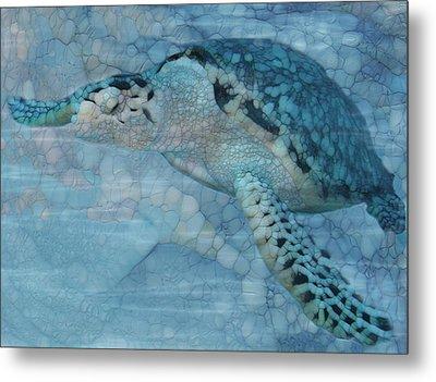 Turtle - Beneath The Waves Series Metal Print by Jack Zulli