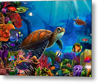 Turtle Domain Metal Print by Gerald Newton