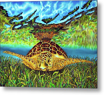 Turtle Grass Metal Print by Daniel Jean-Baptiste