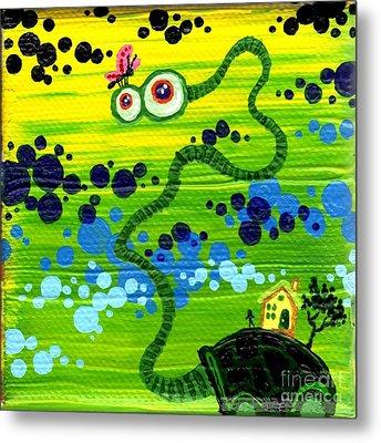 Turtle Guy Metal Print by Dan Keough