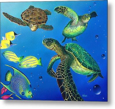 Turtle Towne Metal Print by Angie Hamlin