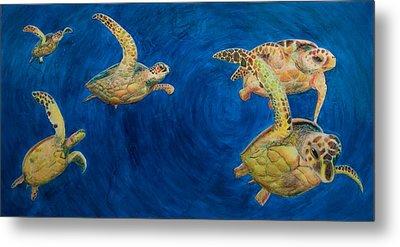 Turtles Metal Print by Julia Collard