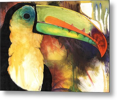Metal Print featuring the mixed media Tusanii by Anthony Burks Sr