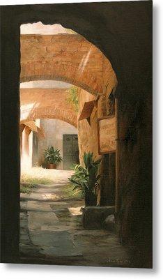 Tuscan Arches Metal Print by Anna Rose Bain