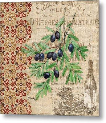 Tuscan Black Olives Metal Print