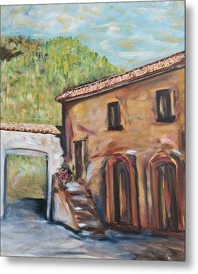 Tuscan Convent Metal Print