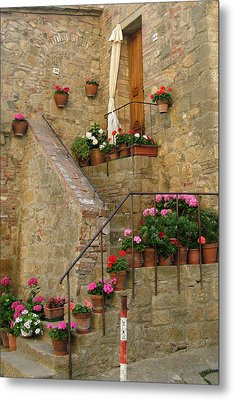 Tuscan Cottage Metal Print by Donna Corless