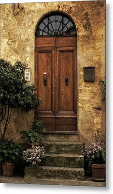 Tuscan Entrance Metal Print by Andrew Soundarajan