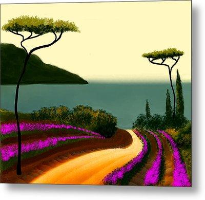 Tuscan Fields Of Beauty Metal Print by Larry Cirigliano