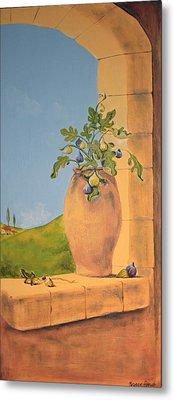 Tuscan Figs Metal Print by Yvonne Ayoub