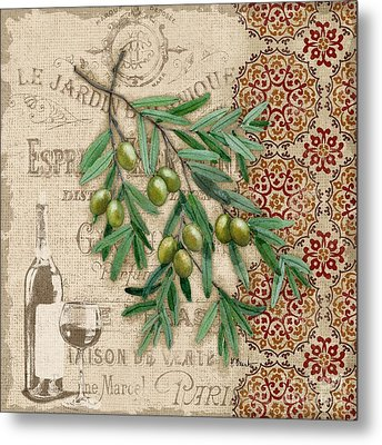 Tuscan Green Olives Metal Print by Paul Brent
