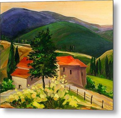 Tuscan Hills Metal Print by Elise Palmigiani