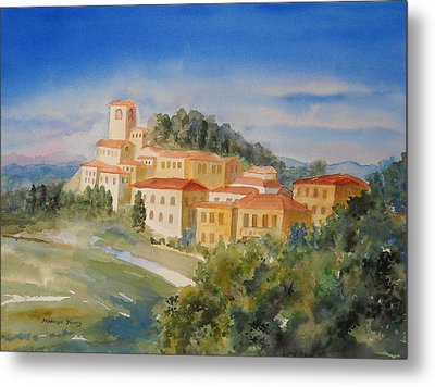 Tuscan Hilltop Village Metal Print by Marilyn Young