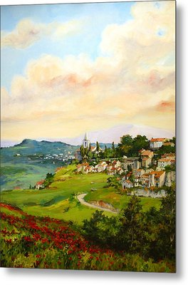 Metal Print featuring the painting Tuscan Landscape by Tigran Ghulyan