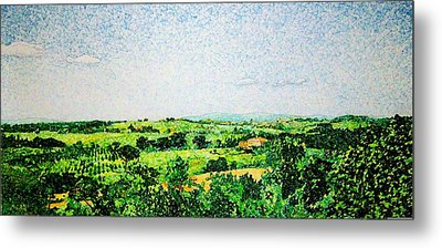 Tuscan Long View Metal Print by Jason Charles Allen