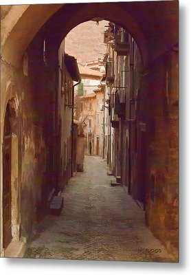 Metal Print featuring the photograph Tuscan Side Street by Michael Flood
