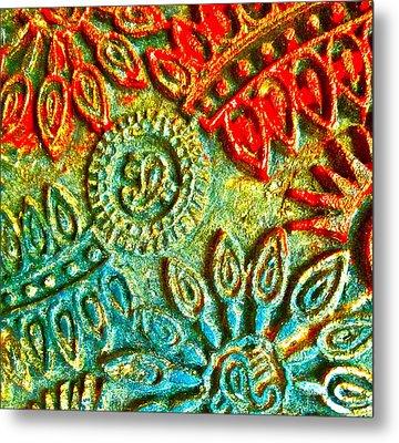Tuscany Batik Metal Print by Gwyn Newcombe