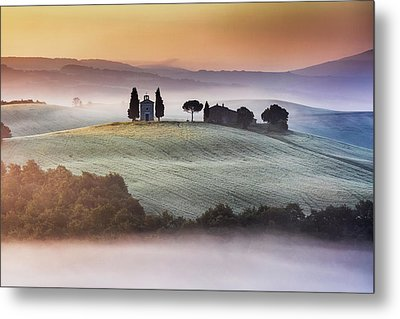 Tuscany Church On The Hill Metal Print by Evgeni Dinev