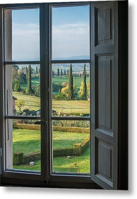 Tuscany Out My Window Metal Print