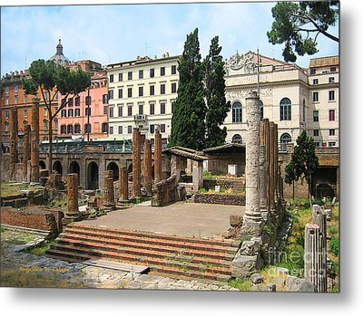 Tuscany- Roman Forum Metal Print by Italian Art